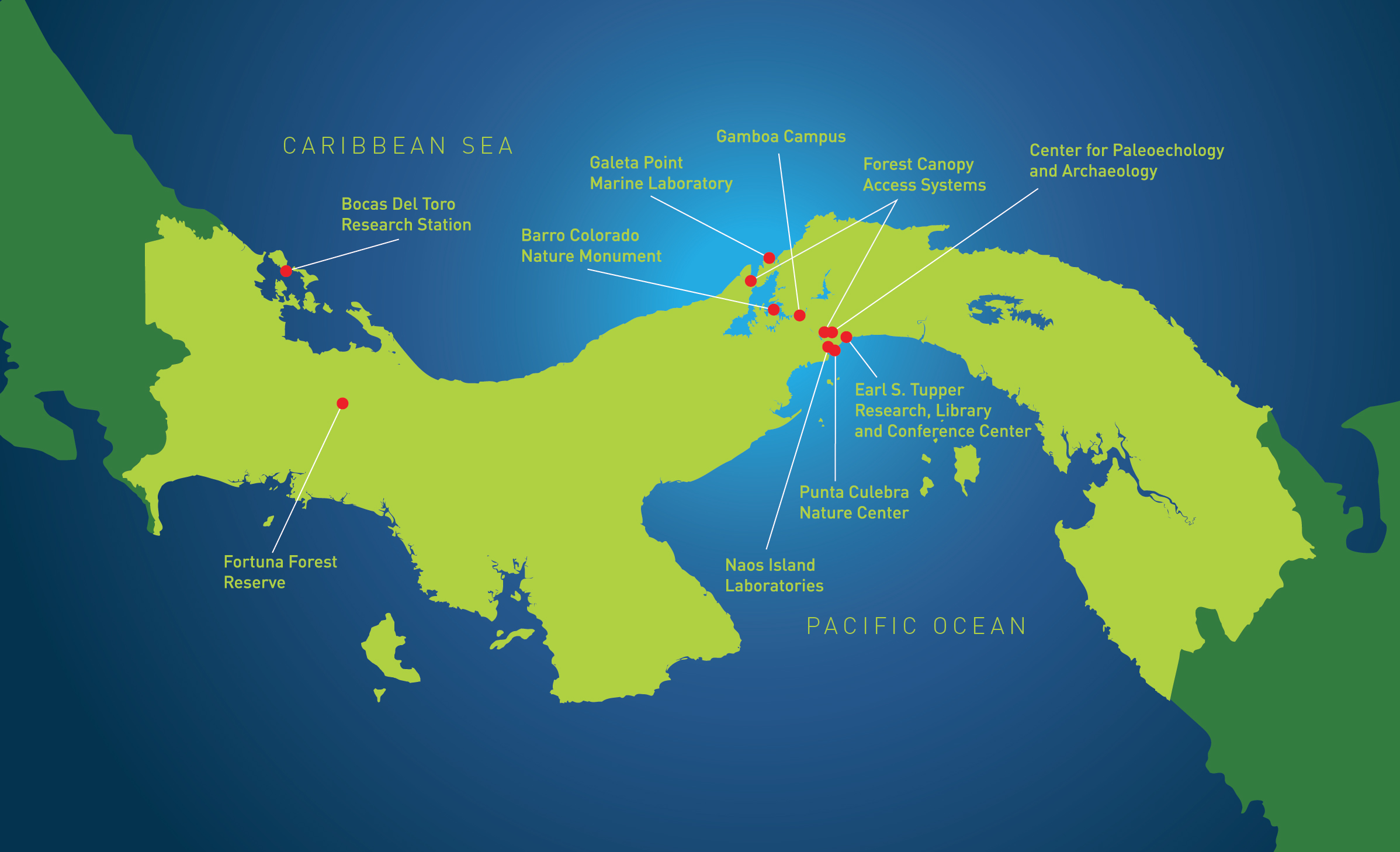 Panama On Map Of World.Maps Smithsonian Tropical Research Institute