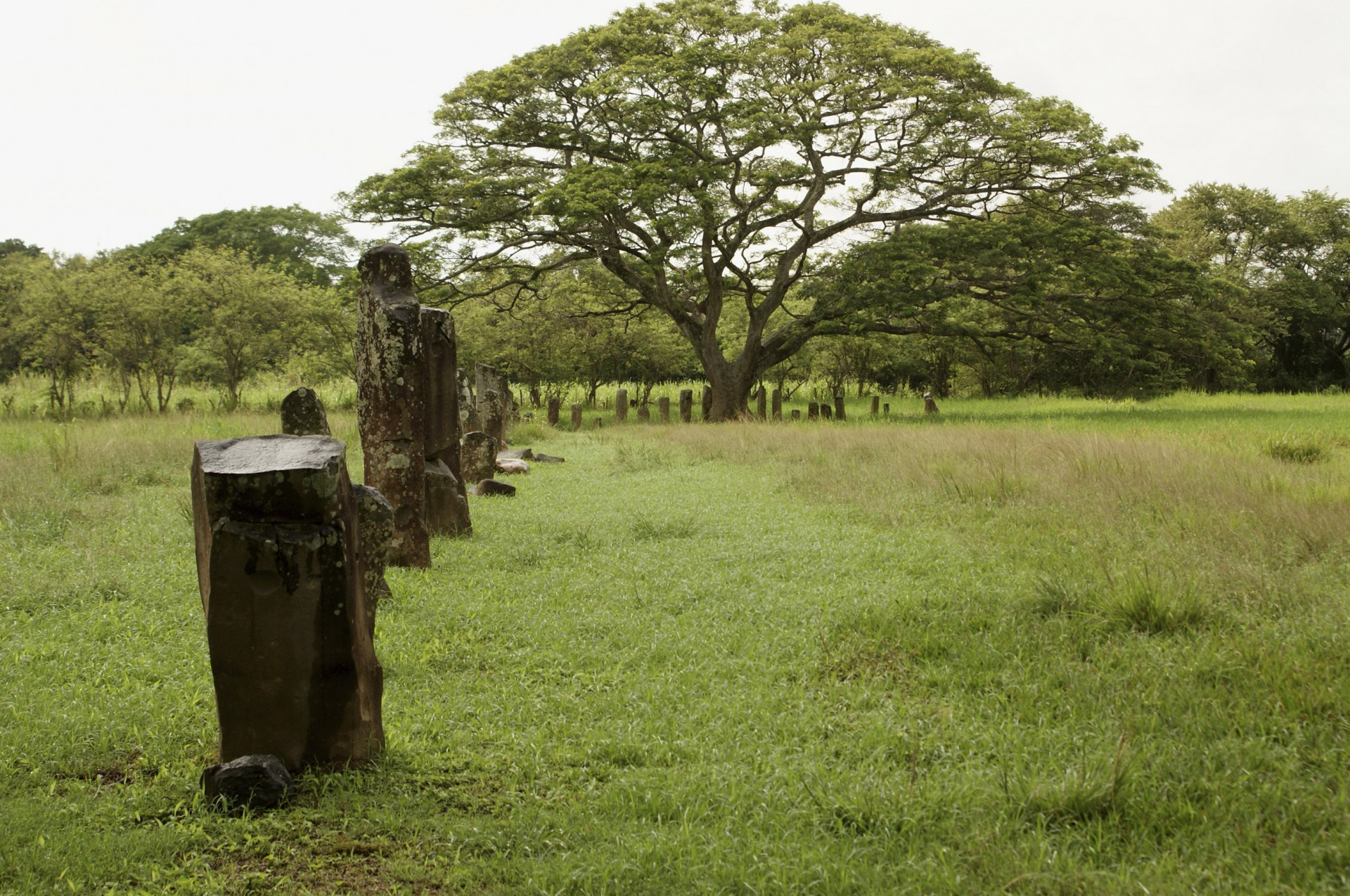 Stone monoliths in El Caño