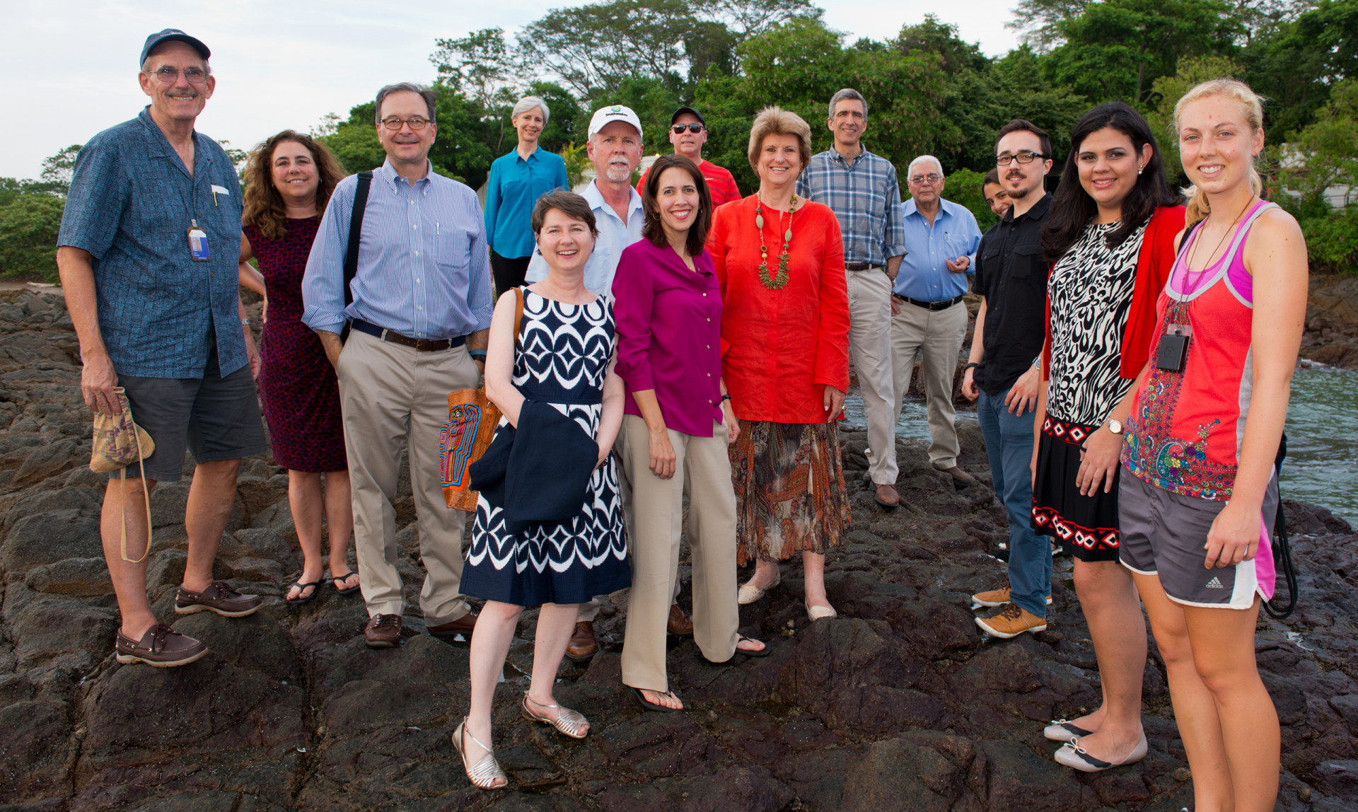 Members of STRI's Advisory Board, the Fundación Smithsonian and scientists meet at the Punta Culebra Nature Center