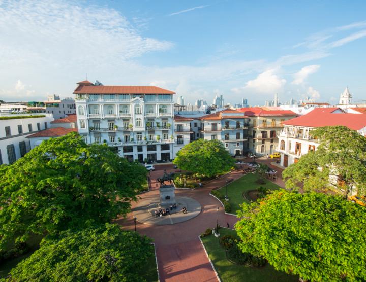 Plaza Herrera in Panama City's old quarter, Casco Viejo
