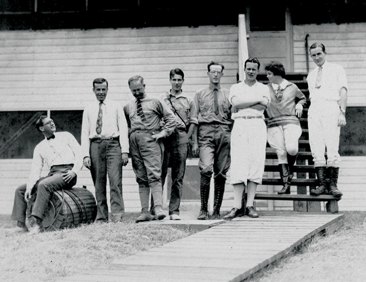 Some of the first visitors to the Barro Colorado Island research station, circa 1924