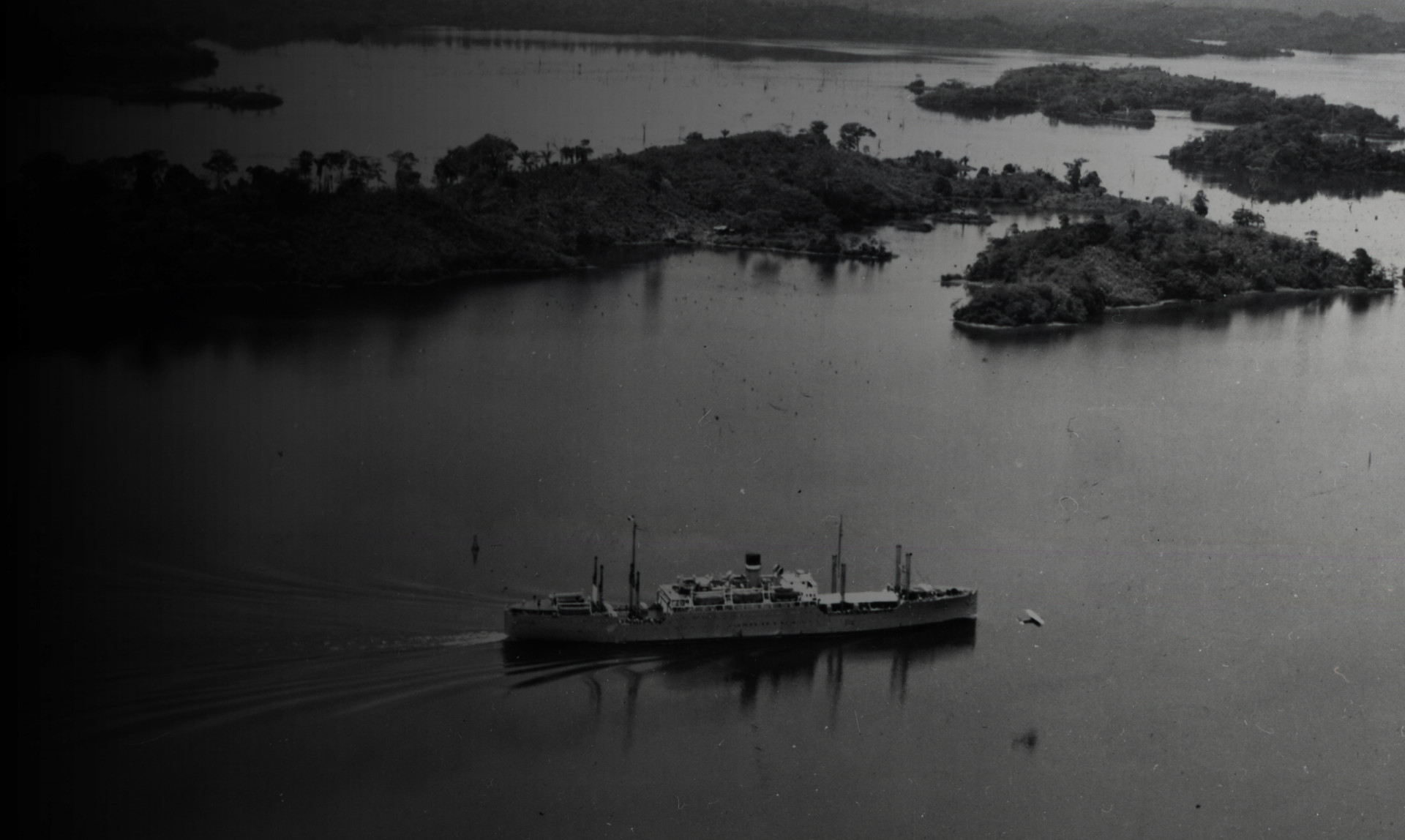 Engineers dammed the Chagres River to create Gatun Lake, the main channel of the Panama Canal