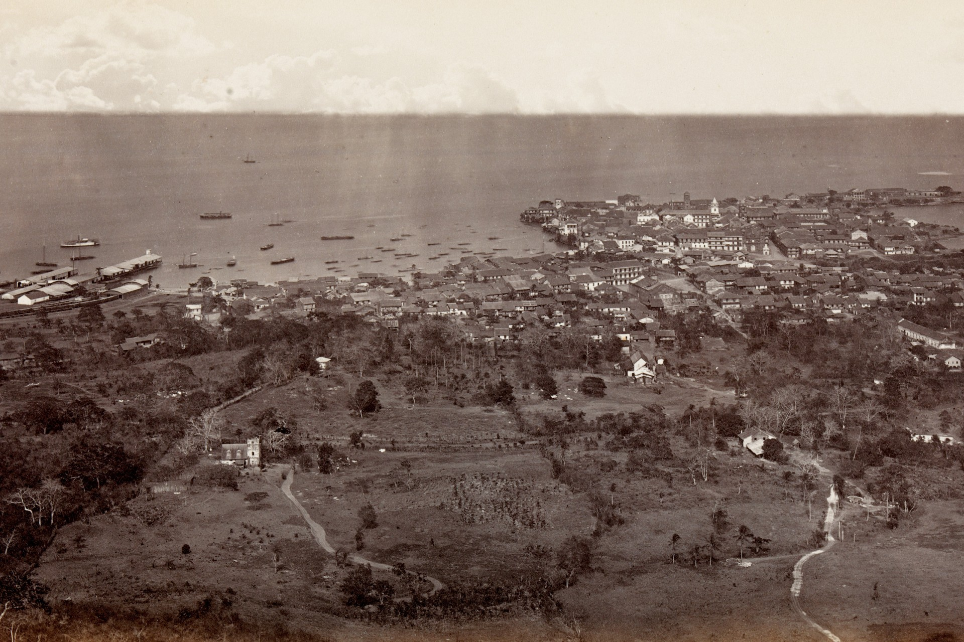A Bee's-Eye-View of Panama in the late 1800's