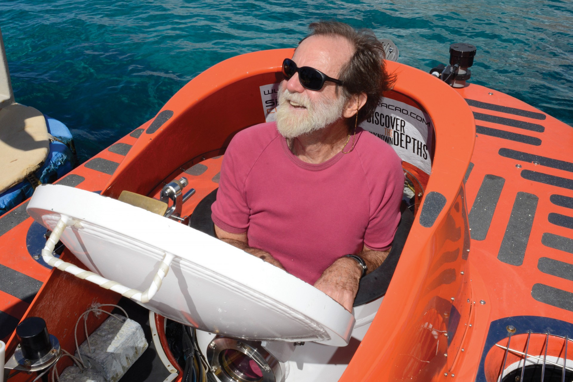 D. Ross Robertson, staff scientist at STRI in Panama, ready to dive in the Curasub