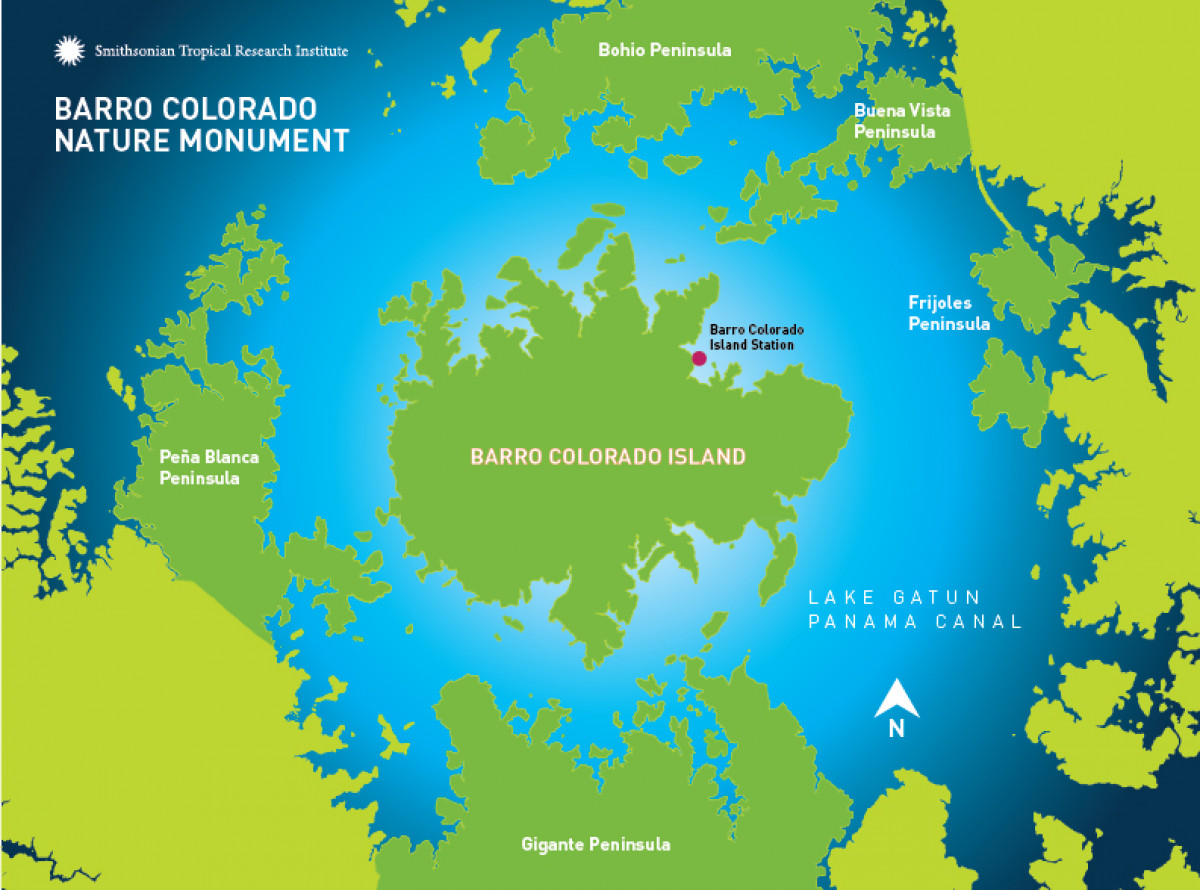 Panama Canal Location On World Map.Barro Colorado Smithsonian Tropical Research Institute
