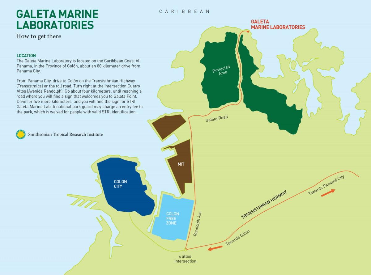 Galeta directional Map